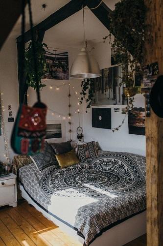Ethnic prints bedroom extures