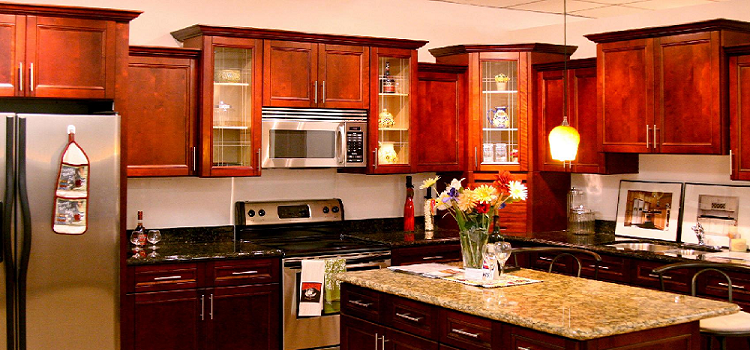 best cherry kitchen cabinets