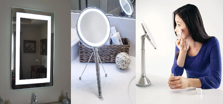 led mirrors for home decor
