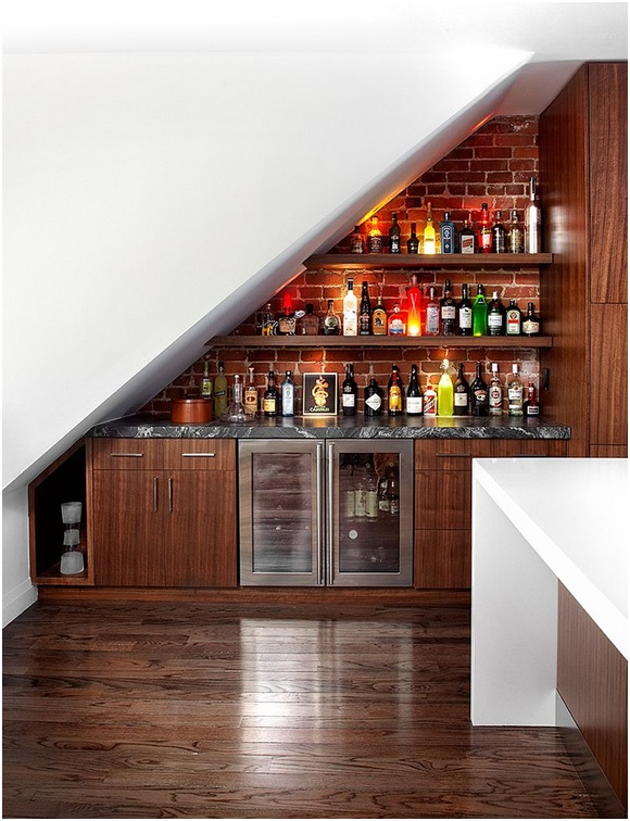 Staircase Style Shelving
