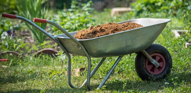A wheelbarrow