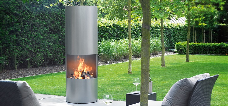 outdoor designer fireplace