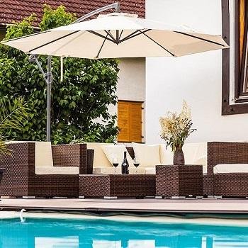pool facet umbrellas | pool side umbrellas
