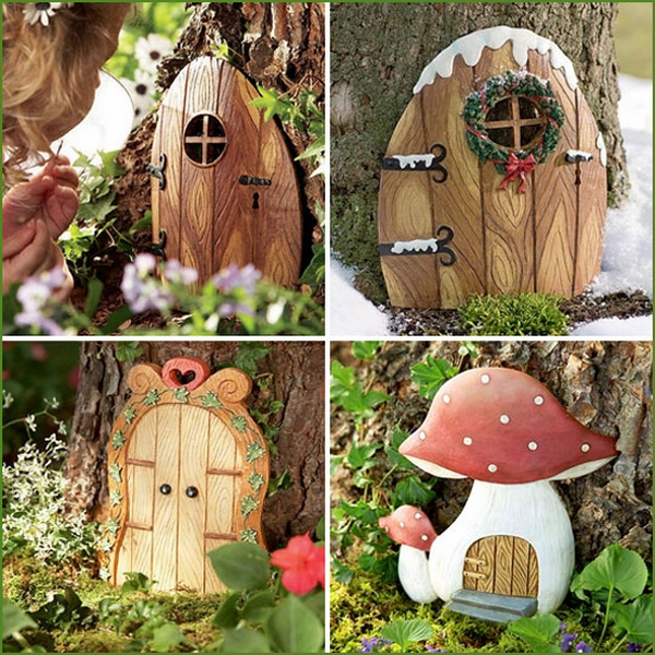 DIY Garden crafts fairy door