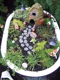 DIY Wash Tub House Fairy Garden