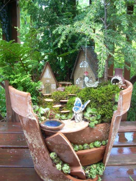 DIY craft flower pot fairy garden