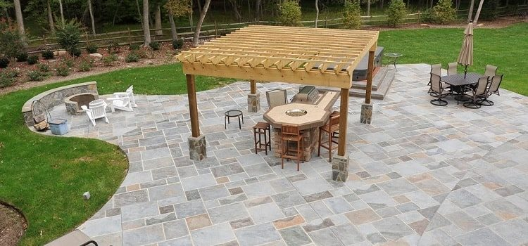 home concrete patio