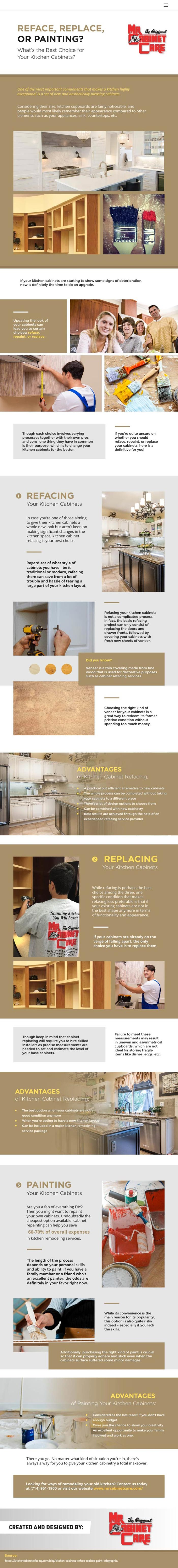 best kitchen cabinets infograpic