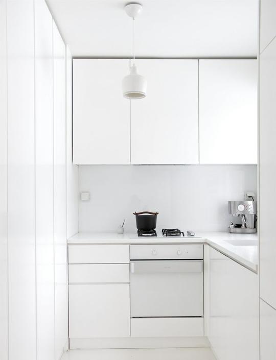 minimalistic compact kitchen