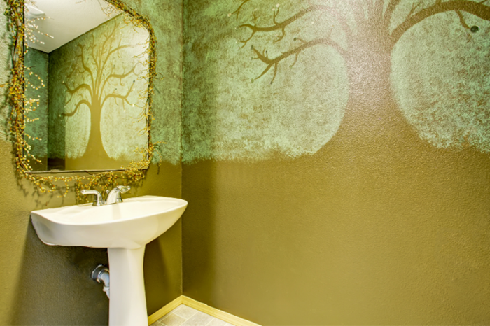 art paint for bathroom