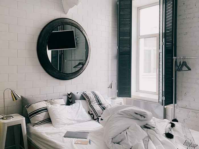 mirror over your bed wall