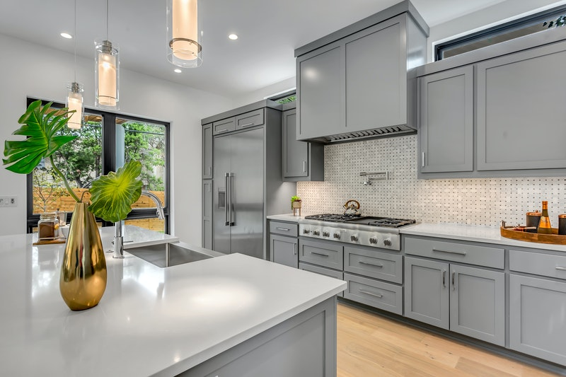 grey colour kitchen cabinets