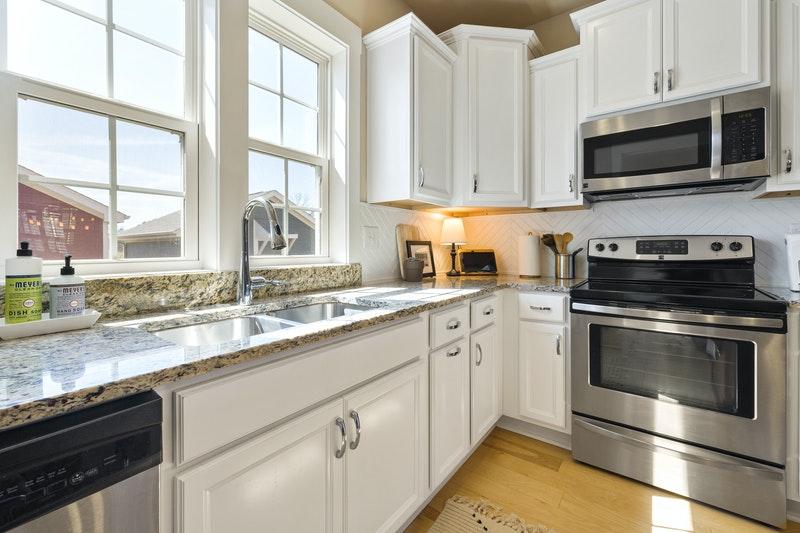 white colour kitchen cabinets